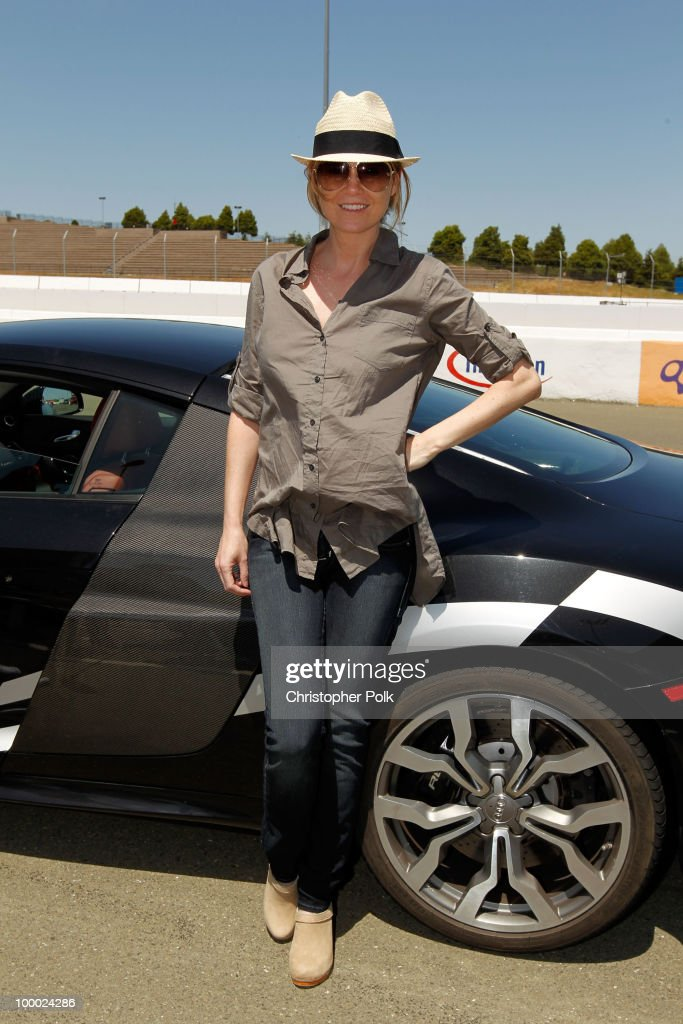 Actress Ellen Pompeo attends 'Learn to Ride' with the Audi Sportscar Experience 2010, presented by Oakley at Infineon Raceway on May 20, 2010 in Sonoma, California.