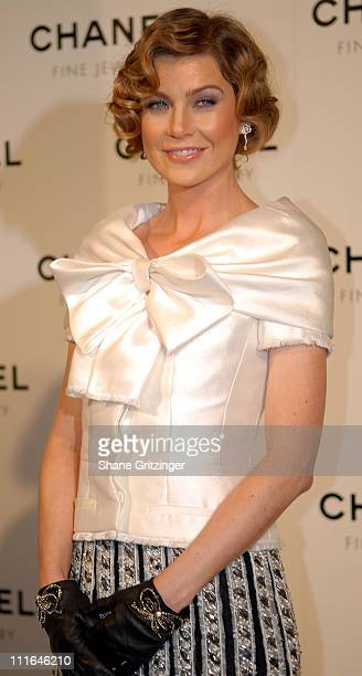 Actress Ellen Pompeo attends 'Night Of Diamonds' hosted by Chanel Fine Jewelry on January 16 2008 in New York City New York