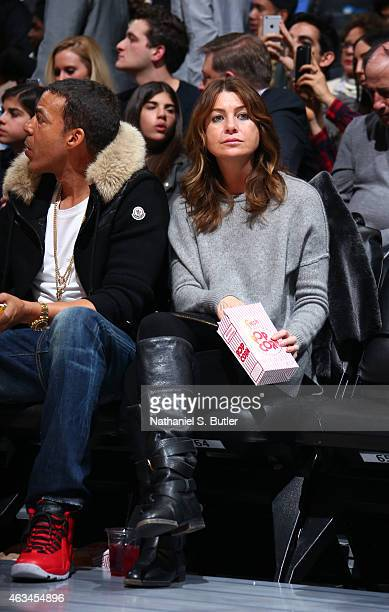 Actress Ellen Pompeo attends State Farm AllStar Saturday Night as part of the 2015 NBA AllStar Weekend on February 14 2015 at Barclays Center in...
