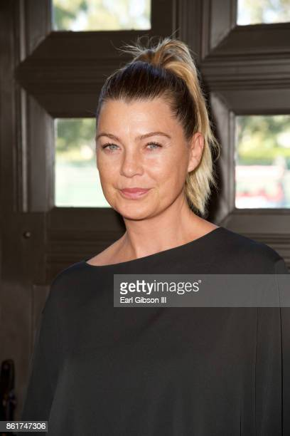 Actress Ellen Pompeo attends Sunday matinee of 'Turn Me Loose' at Wallis Annenberg Center for the Performing Arts on October 15 2017 in Beverly Hills...