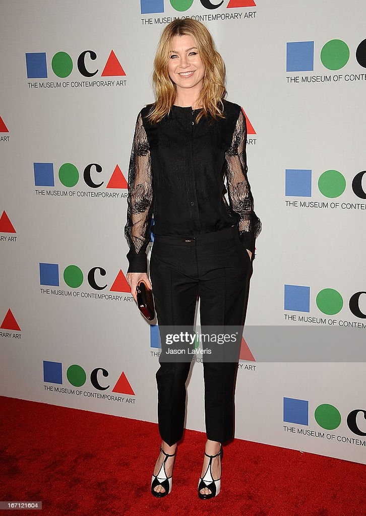 Actress Ellen Pompeo attends the 2013 MOCA Gala at MOCA Grand Avenue on April 20, 2013 in Los Angeles, California.