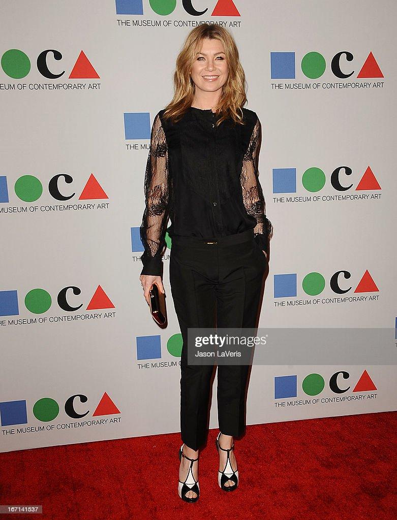Actress Ellen Pompeo attends the 2013 MOCA Gala at MOCA Grand Avenue on April 20, 2013 in Los Angeles, California.
