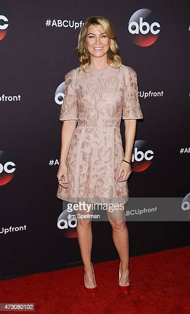 Actress Ellen Pompeo attends the 2015 ABC upfront presentation at Avery Fisher Hall at Lincoln Center for the Performing Arts on May 12 2015 in New...