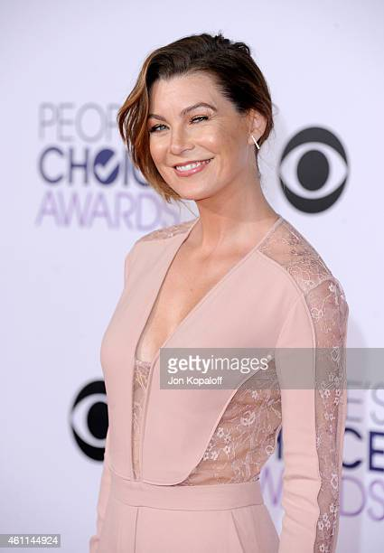 Actress Ellen Pompeo attends The 41st Annual People's Choice Awards at Nokia Theatre LA Live on January 7 2015 in Los Angeles California