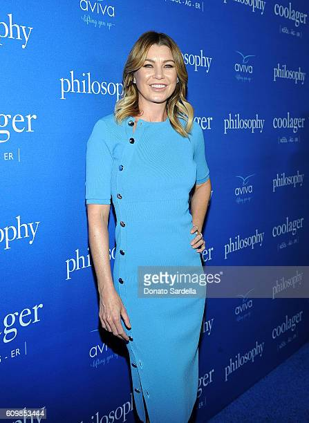 Actress Ellen Pompeo attends The Age of Cool hosted by Philosophy and Ellen Pompeo at Quixote on September 22 2016 in West Hollywood California