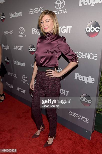Actress Ellen Pompeo attends the Celebration of ABC's TGIT Lineup presented by Toyota and cohosted by ABC and Time Inc's Entertainment Weekly Essence...