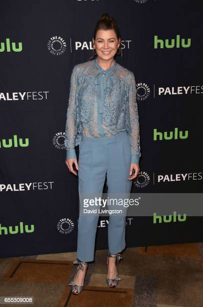 Actress Ellen Pompeo attends The Paley Center for Media's 34th Annual PaleyFest Los Angeles presentation of 'Grey's Anatomy' at Dolby Theatre on...