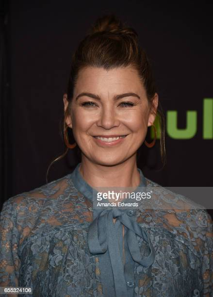 Actress Ellen Pompeo attends The Paley Center For Media's 34th Annual PaleyFest Los Angeles 'Grey's Anatomy' screening and panel at the Dolby Theatre...