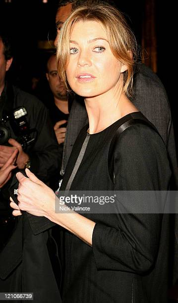 Actress Ellen Pompeo attends the Rag Bone Fall 2008 runway show during MercedesBenz Fashion week on February 1 2008 in New York City