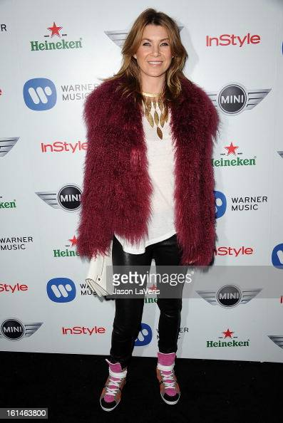 Actress Ellen Pompeo attends the Warner Music Group 2013 Grammy celebration at Chateau Marmont on February 10 2013 in Los Angeles California