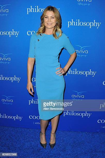 Actress Ellen Pompeo attends the 'Welcome to the Age of Cool' event hosted by Philosophy and Ellen Pompeo on September 22 2016 in West Hollywood...