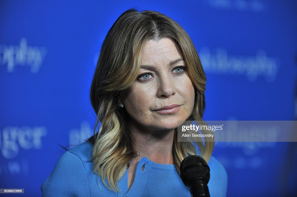Actress Ellen Pompeo attends the 'Welcome to the Age of Cool' event hosted by Philosophy and Ellen Pompeo on September 22, 2016 in West Hollywood, California.