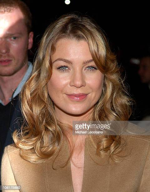 Actress Ellen Pompeo front row at the MercedesBenz Fashion Week Fall 2008 Michael Kors show at The Tent in New York City's Bryant Park on February 6...