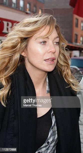 Actress Ellen Pompeo leaves Pastis restaurant on January 18 2008 in New York City