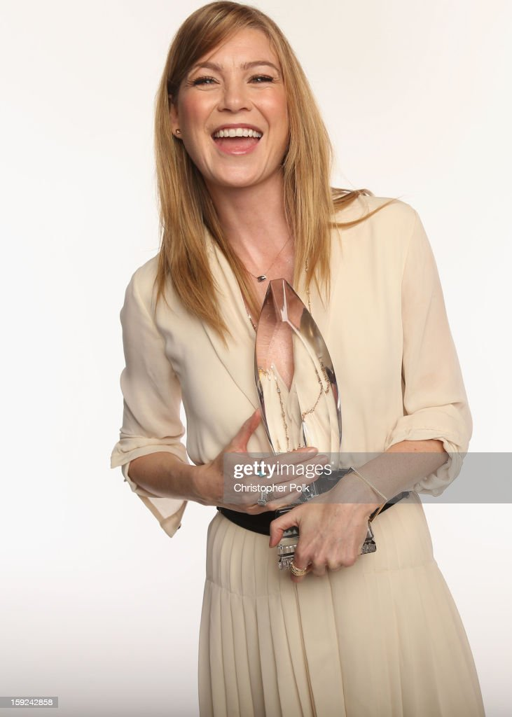 Actress Ellen Pompeo poses for a portrait during the 39th Annual People's Choice Awards at Nokia Theatre L.A. Live on January 9, 2013 in Los Angeles, California.