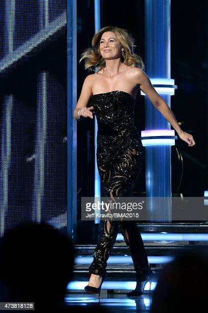 Actress Ellen Pompeo speaks onstage during the 2015 Billboard Music Awards at MGM Grand Garden Arena on May 17 2015 in Las Vegas Nevada