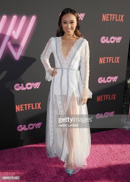 Actress Ellen Wong attends the premiere of 'GLOW' at The Cinerama Dome on June 21 2017 in Los Angeles California