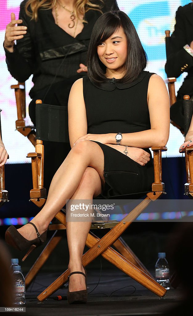 Actress Ellen Wong of the television show 'The Carrie Diaries' speaks during the CW Network portion of the 2013 Winter Television Critics Association Press Tour at the Langham Huntington Hotel & Spa on January 13, 2013 in Pasadena, California.