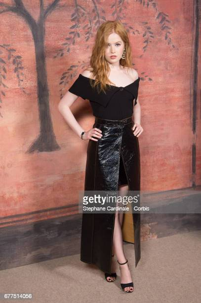 Actress Ellie Bamber attends the Chanel Cruise 2017/2018 Collection Photocall at Grand Palais on May 3 2017 in Paris France