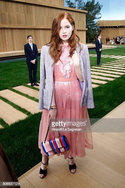 Actress Ellie Bamber attends the Chanel Spring Summer 2016 show as part of Paris Fashion Week on January 26 2016 in Paris France