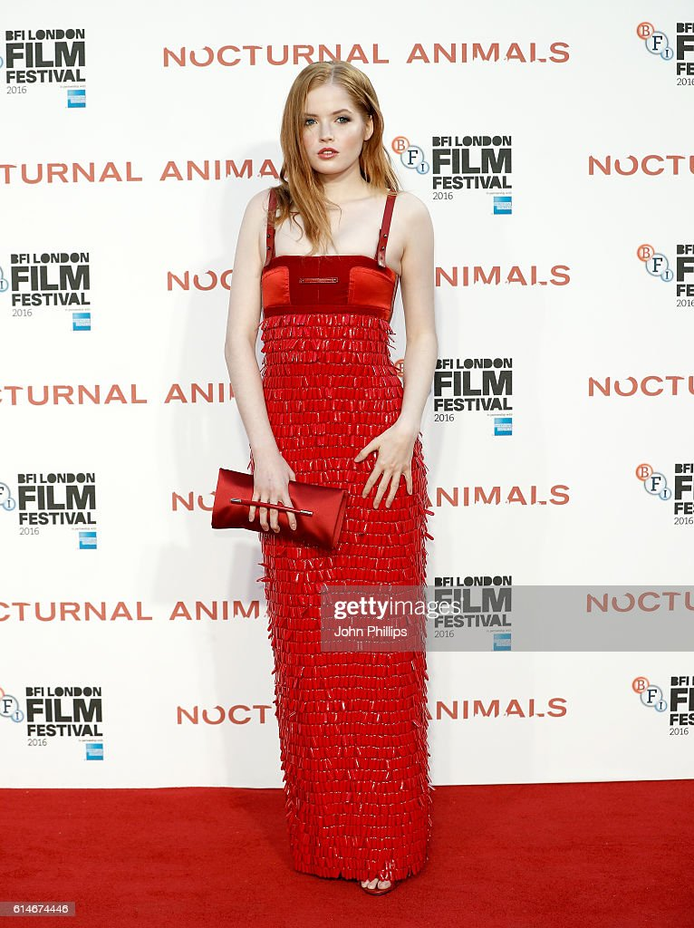 Actress Ellie Bamber attends the 'Nocturnal Animals' Headline Gala screening during the 60th BFI London Film Festival at Odeon Leicester Square on October 14, 2016 in London, England.