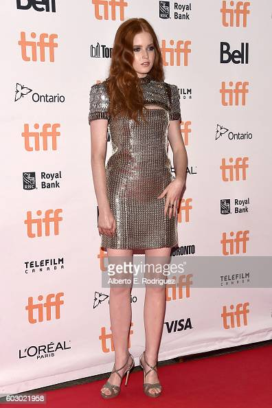 Actress Ellie Bamber attends the 'Nocturnal Animals' premiere during the 2016 Toronto International Film Festival at Princess of Wales Theatre on...