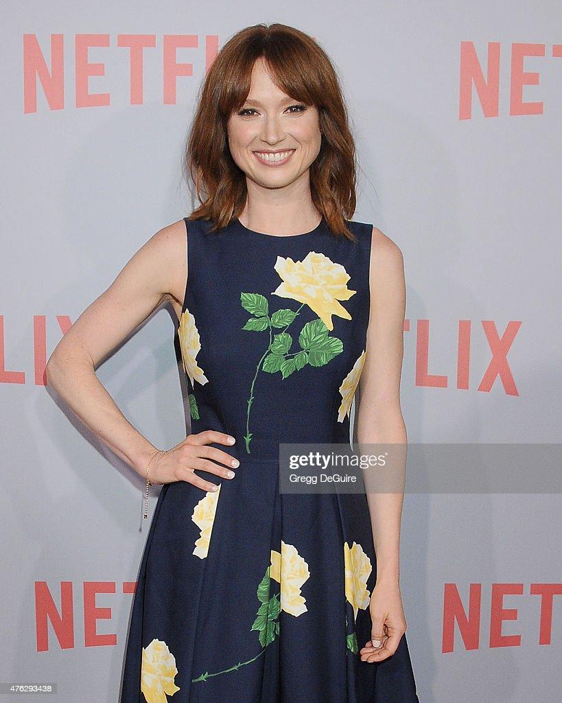 Actress Ellie Kemper arrives at Netflix's series 'Unbreakable Kimmy Schmidt' QA Screening event at Pacific Design Center on June 7 2015 in West...