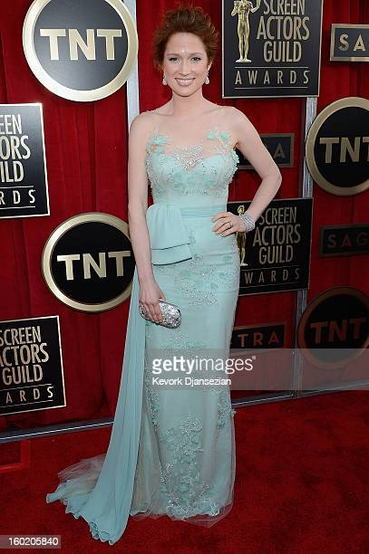 Actress Ellie Kemper arrives at the 19th Annual Screen Actors Guild Awards held at The Shrine Auditorium on January 27 2013 in Los Angeles California