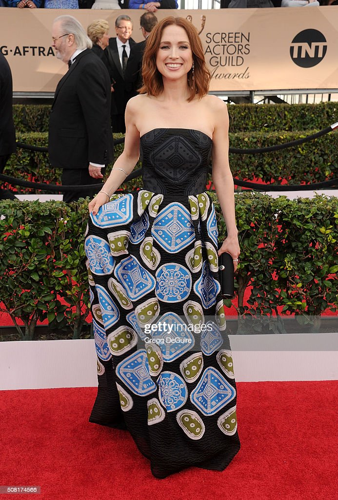 Actress Ellie Kemper arrives at the 22nd Annual Screen Actors Guild Awards at The Shrine Auditorium on January 30 2016 in Los Angeles California