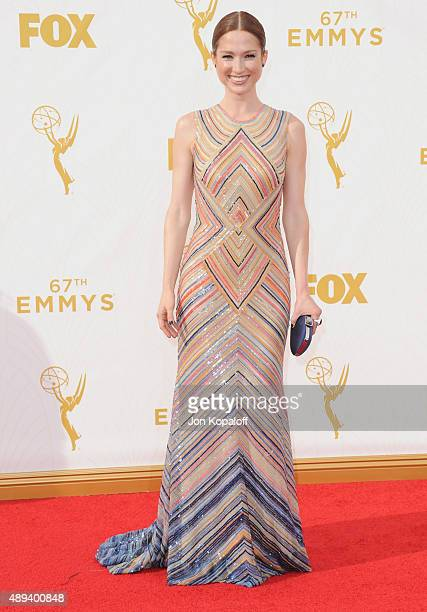 Actress Ellie Kemper arrives at the 67th Annual Primetime Emmy Awards at Microsoft Theater on September 20 2015 in Los Angeles California