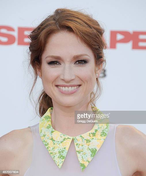 Actress Ellie Kemper arrives at the Los Angeles premiere of 'Sex Tape' at Regency Village Theatre on July 10 2014 in Westwood California