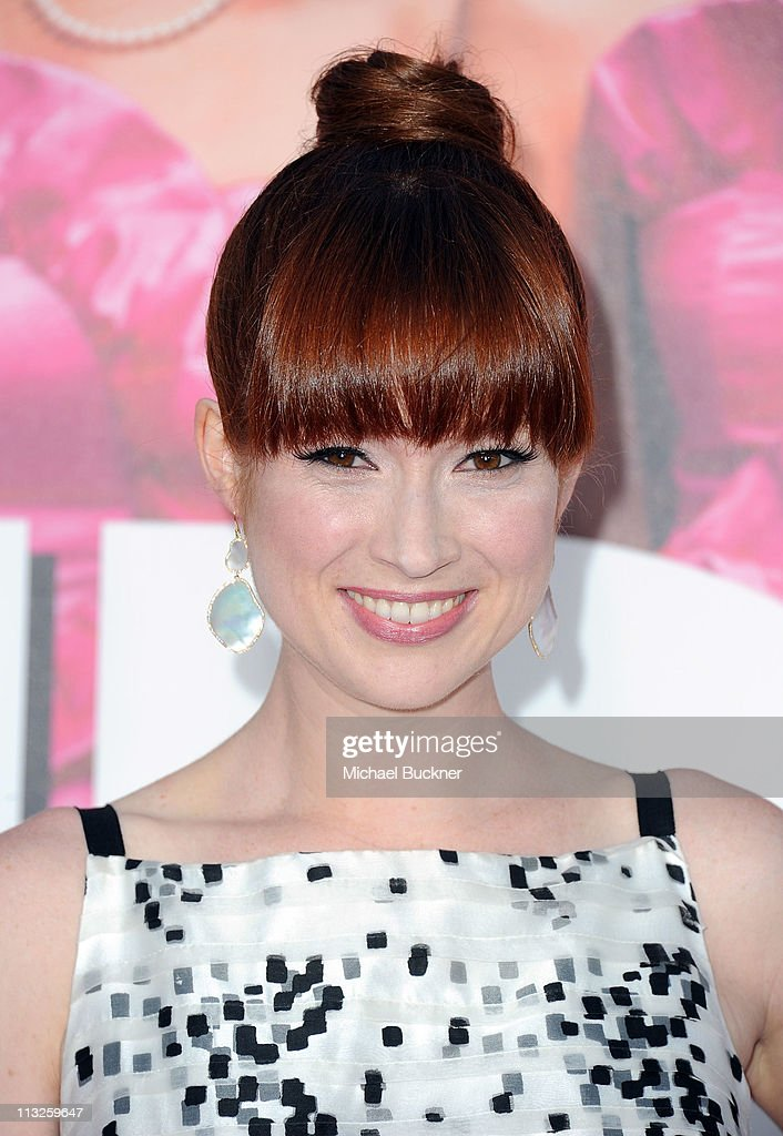 Actress Ellie Kemper arrives at the Premiere of Universal Pictures' 'Bridesmaids' at the Mann Village Theatre on April 28, 2011 in Westwood, California.
