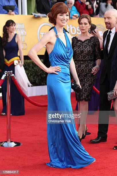 Actress Ellie Kemper arrives at the TNT/TBS broadcast of the 17th Annual Screen Actors Guild Awards held at The Shrine Auditorium on January 30 2011...