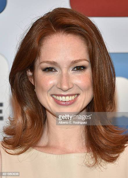 Actress Ellie Kemper attends a photocall for Columbia Pictures' 'Sex Tape' at The Four Seasons Hotel Los Angeles at Beverly Hills on July 10 2014 in...
