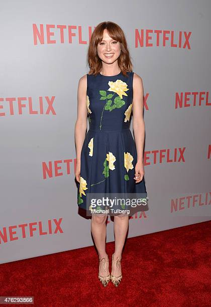 Actress Ellie Kemper attends a QA screening of Netflix's 'Unbreakable Kimmy Schmidt' at Pacific Design Center on June 7 2015 in West Hollywood...