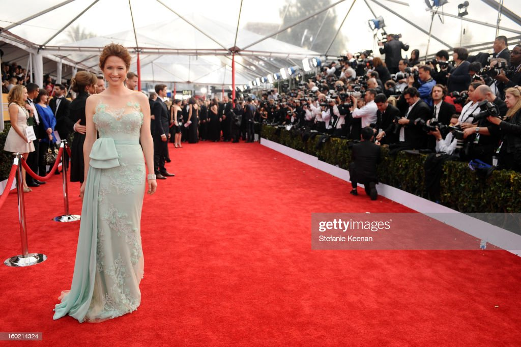 Actress Ellie Kemper attends the 19th Annual Screen Actors Guild Awards at The Shrine Auditorium on January 27, 2013 in Los Angeles, California. (Photo by Stefanie Keenan/WireImage) 23116_025_0856.jpg