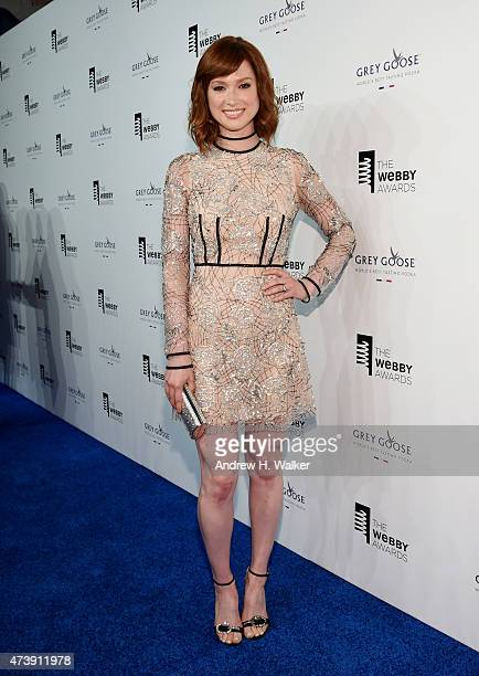 Actress Ellie Kemper attends the 19th Annual Webby Awards on May 18 2015 in New York City
