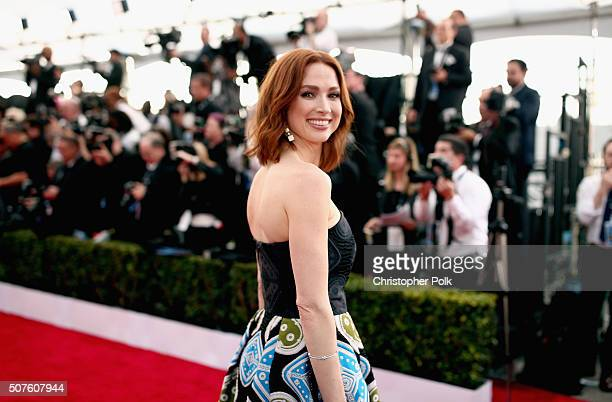 Actress Ellie Kemper attends The 22nd Annual Screen Actors Guild Awards at The Shrine Auditorium on January 30 2016 in Los Angeles California...