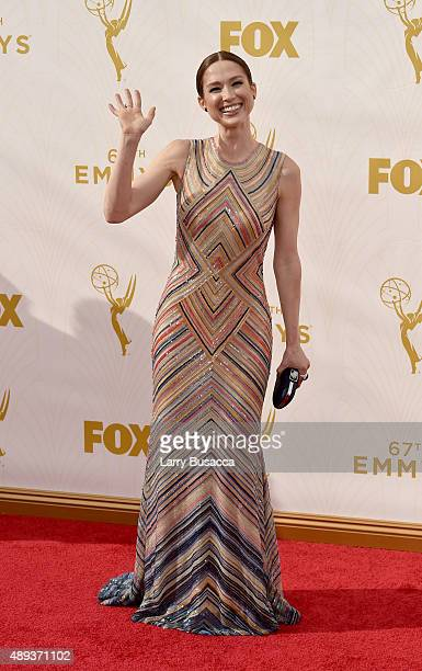 Actress Ellie Kemper attends the 67th Annual Primetime Emmy Awards at Microsoft Theater on September 20 2015 in Los Angeles California