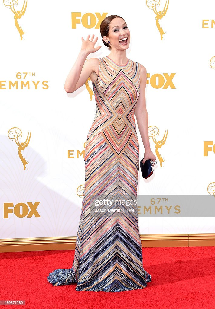 Actress <a gi-track='captionPersonalityLinkClicked' href=/galleries/search?phrase=Ellie+Kemper&family=editorial&specificpeople=6123842 ng-click='$event.stopPropagation()'>Ellie Kemper</a> attends the 67th Annual Primetime Emmy Awards at Microsoft Theater on September 20, 2015 in Los Angeles, California.