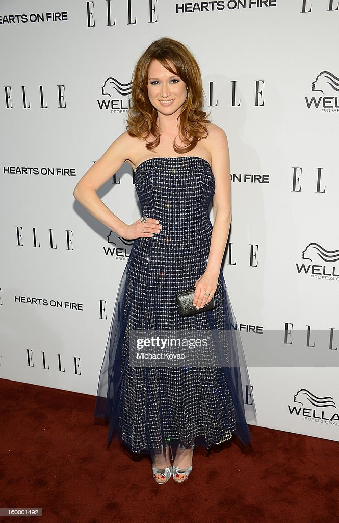 Actress Ellie Kemper attends the ELLE's Women in Television Celebration at Soho House on January 24, 2013 in West Hollywood, California.
