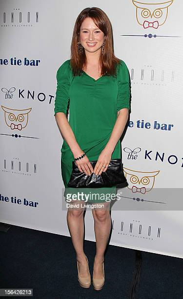 Actress Ellie Kemper attends the launch of Tie The Knot hosted by Jesse Tyler Ferguson and his partner Justin Mikita at The London West Hollywood on...