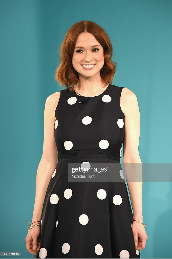Actress <a gi-track='captionPersonalityLinkClicked' href=/galleries/search?phrase=Ellie+Kemper&family=editorial&specificpeople=6123842 ng-click='$event.stopPropagation()'>Ellie Kemper</a> attends Tiffany & Co. In Conversation on April 15, 2016 in New York City.