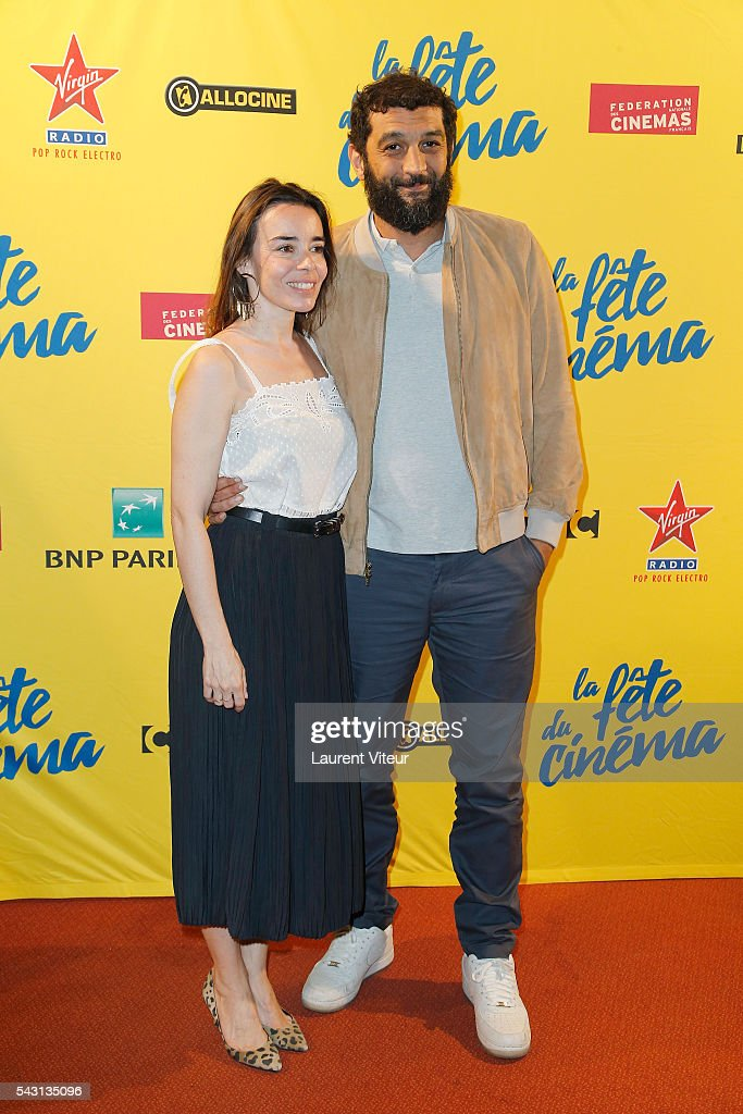 Actress Elodie Bouchez and Actor Ramzy Bedia attend the 32nd 'Fete du Cinema' launch at UGC Cine Cite Bercy on June 26, 2016 in Paris, France.
