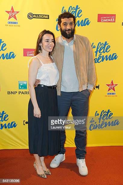 Actress Elodie Bouchez and Actor Ramzy Bedia attend the 32nd 'Fete du Cinema' launch at UGC Cine Cite Bercy on June 26 2016 in Paris France