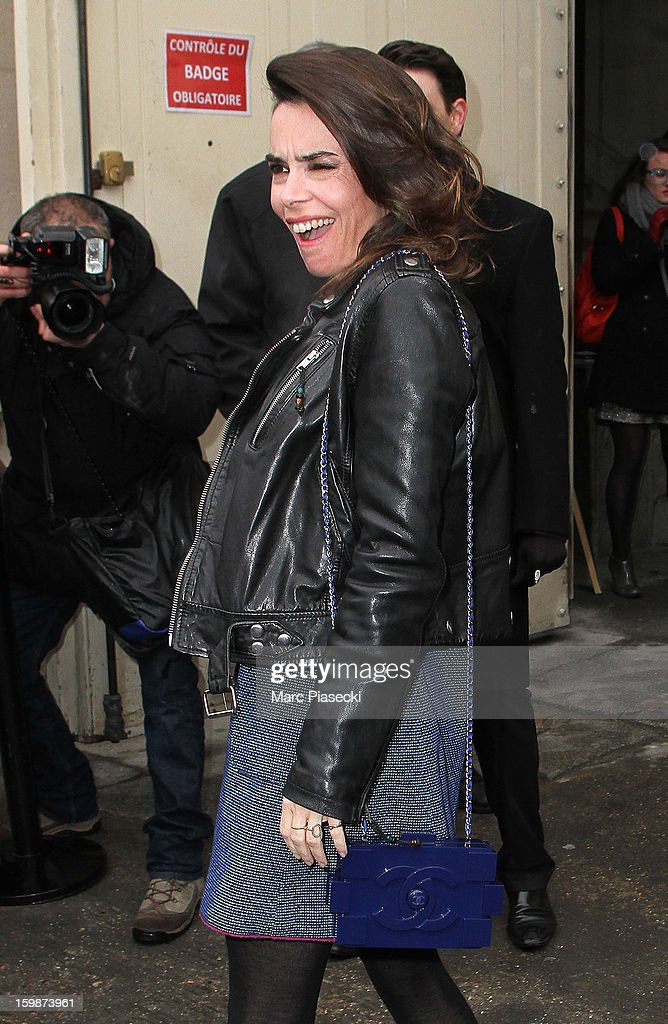 Actress Elodie Bouchez arrives to attend the Chanel Spring/Summer 2013 Haute-Couture show as part of Paris Fashion Week at Grand Palais on January 22, 2013 in Paris, France.