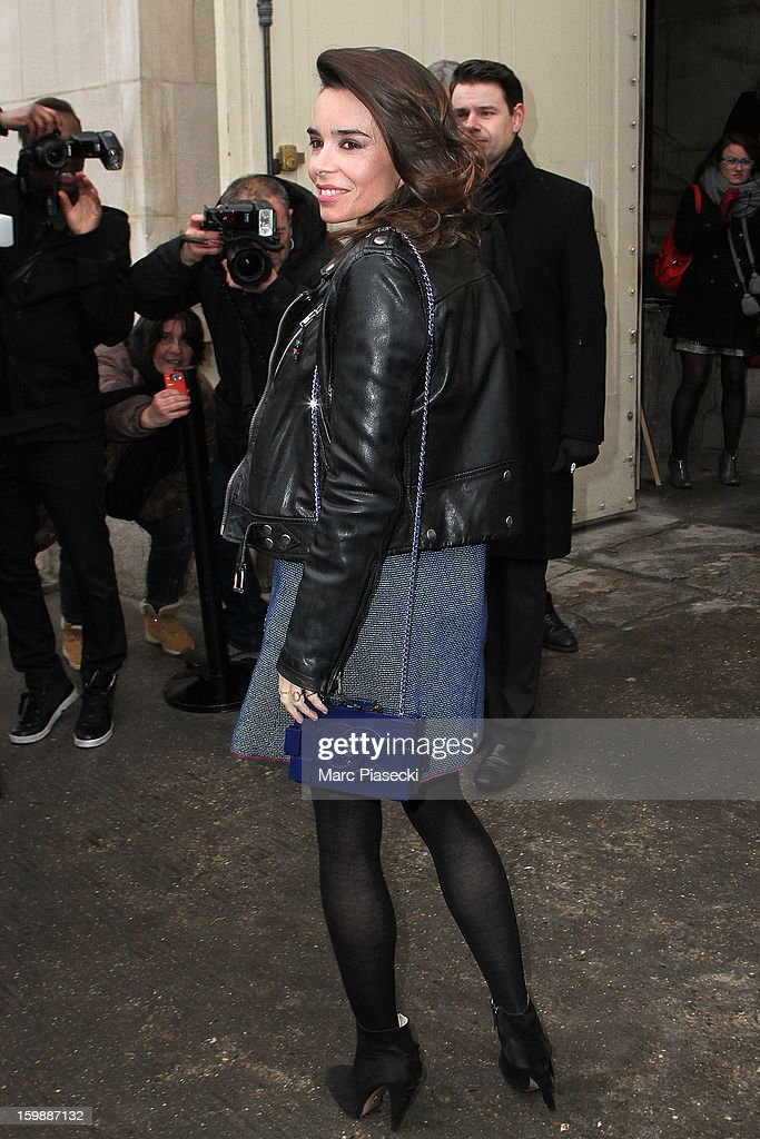 Actress Elodie Bouchez is seen arriving at the the Chanel Spring/Summer 2013 Haute-Couture show as part of Paris Fashion Week at Grand Palais on January 22, 2013 in Paris, France.