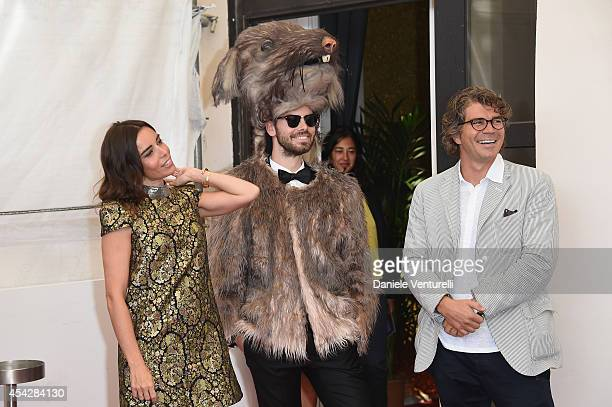 Actress Elodie Bouchez The Rat and Producer Gregory Bernard attend 'Reality' Photocall during the 71st Venice Film Festival on August 28 2014 in...