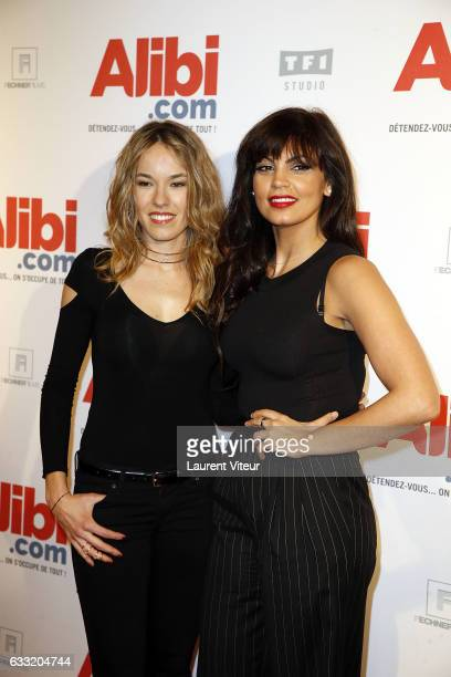 Actress Elodie Fontan and Nawell Madani attend the 'Alibicom' Paris Premiere at Cinema Gaumont Opera on January 31 2017 in Paris France