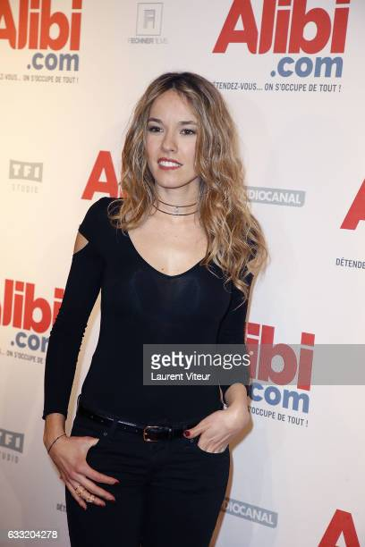 Actress Elodie Fontan attends the 'Alibicom' Paris Premiere at Cinema Gaumont Opera on January 31 2017 in Paris France